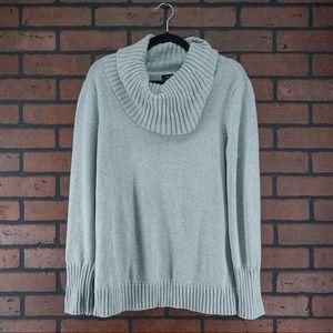 NAUTICA Gray Knit Turtleneck Sweater Size XL